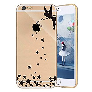 Custodia iPhone 5S iPhone SE Cover iPhone 5,Ukayfe Ultra Slim Custodia Cover Resistenti per iPhone 5/5S/SE, TPU Gel Gomma Silicone Protettivo Skin Custodia Protettiva Shell Case Cover per iPhone 5/5S/SE con Divertente Capriccioso Design,Particolari Fantasia Lusso per Donna Ragazza Antiurto Protettiva Anti-scratch Cover Case Caso Custodia Bumper per iPhone 5/5S/SE-Angel girl