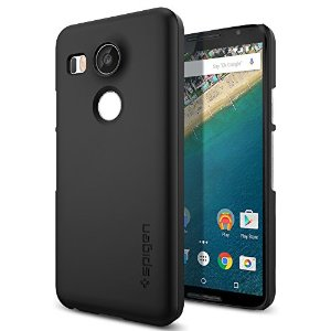Custodia Nexus 5X, Spigen [Rivestimento Soft-Feel] Thin Fit [Black] **Ultra-Sottile & Robusto** [Forma-Perfetta] Custodia LG Nexus 5X, Cover Nexus 5X, Google Nexus 5X (SGP11756)
