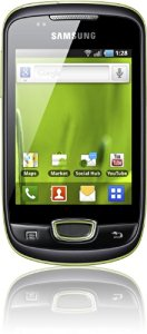 Samsung S5570 Galaxy Mini Smartphone (Display 8,1 cm (3,2 pollici), Touchscreen, Fotocamera 3 Megapixel, Android OS)