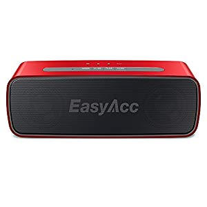 EasyAcc SoundX 10W Bluetooth CSR 4.0 Speaker con Crystal Clear Sound-Qualità e 20 ore di autonomia (Mikrofon, 3.5mm AUX, Micro SD Card Slot), Rosso