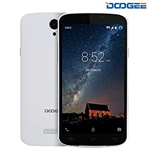 Smartphone Android, DOOGEE X6S Dual SIM Cellulari in offerta - 4G Quad Core Telefonia Mobile - 5.5 Pollici IPS Schermo con 5.0 MP Fotocamera Digitale - 1GB RAM + 8GB ROM - Intelligente Wake Air Gesti - Bianco