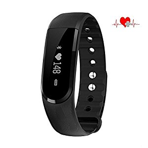 Wristband Bluetooth Heart Rate Monitor and Health Monitor Multi-Point Touch Music Control Tracker Camera Romote Smartwatch for IOS /Android