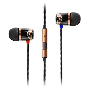 SoundMAGIC E10S In-Ear Earphones with Mic & Remote COMPATIBLE WITH ALL SMARTPHONES Colour BLACK/GOLD