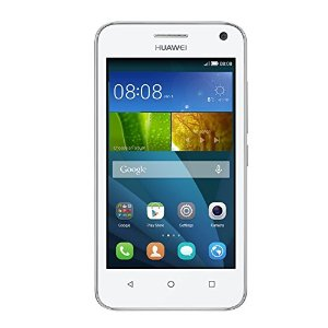 Huawei Y3 Smartphone, Display 4 Pollici IPS, Processore 1,3 GHz Quad-Core, Fotocamera 5 MP, Memoria 4 GB, Android 4.4, Bianco
