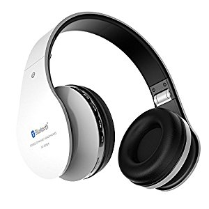 Cuffie bluetooth senza fili Aita BT809 Thor con Microfono per Iphone, Android e PC (Nero-bianco) [Classe di efficienza energetica Stanby time: 200 hours]