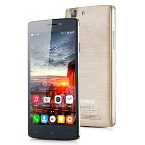 5 Pollici Cubot X12 Smartphone, Dual SIM Quad Core 4G LTE Android 5.1 Lollipop 8GB ROM, OTG GPS Cellulare, Oro