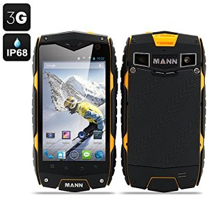 MANN ZUG 3 Smartphone Android 4.3 Tri-Proof DUAL SIM 3G IP68 Impermeabile Antiurto Antipolvere CPU QUAD CORE (COLORE GIALLO)