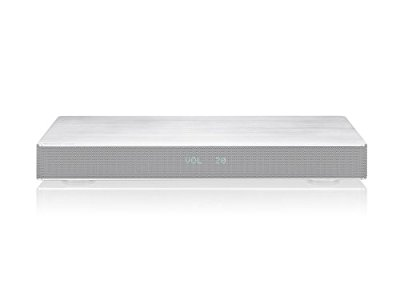 Panasonic SC-HTE80EG-s Soundbase, Sistema surround 2.1 ch, Subwoofer Integrato, 120 W, Bluetooth, NFC, HDMI, Digital Audio, Design Compatto per Appoggio TV con Piedestallo Unico, Silver