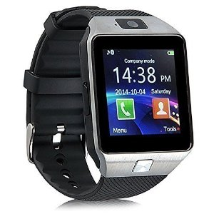 Ruichenxi SW01 Orologio da Polso Intelligente Bluetooth SmartWatch con Bluetooth 3.0 e Telecamera Touchscreen per Apple/iOS, Samsung /Android, HTC. Supporta Orologio Smartphone Sport SMI/TF (Nero)